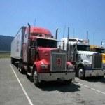 Камера получи и распишись грузовике дальнобойщика